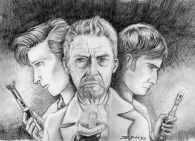 Day of the Doctor: the Three Doctors (Pencils) by dmbarnham