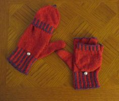 Fold Over Mitten Gloves by Nerds-and-Corsets