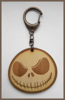 NIGHTMARE BEFORE CHRISTMAS - wood keyring by Piciuu