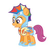 Scootaloos new armor by FluffyTuli