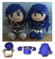 Chrom and Lucina Plushies by Jessacre93