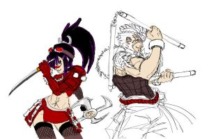 Ninja and Shaolin WIP by Arcturion