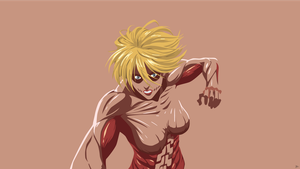 Female Titan {Shingeki no Kyojin} Vector by greenmapple17