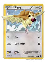 30DoD: Pidgey Trading Card by Chibi-Nuffie