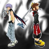 Sora and Riku by Fwirleh
