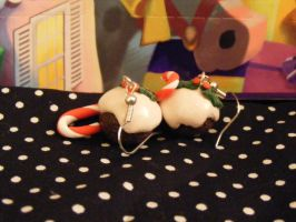 Christmas Pudding Earrings by Charlotte-Holmes