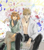 Hetalia - Sid and Nancy by RizafromKeron