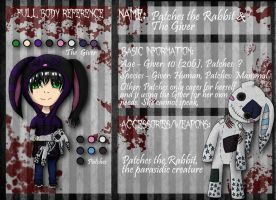CP OCS Reference: Patches the Rabbit and The Giver by Grismalice