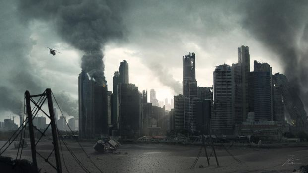 Apocalyptic City Scape by Akajork