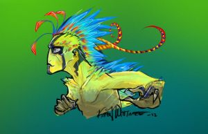 Woo alien archeopteryx thing! by Techta