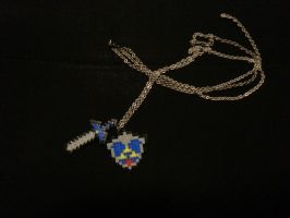 Hama Beads: The Legend of Zelda necklace by sidser