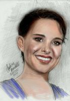 Natalie Portman coloring by AngelinaBenedetti