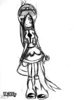 OC- violet 1st look- by LAZy247
