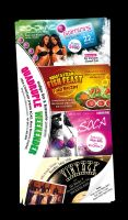 4-in-1 Weekend Party Flyer by artofmarc