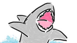 a shark in 7Paint by Riptor25