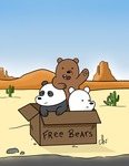 We bare bears (Coloured) by CuteLittleVixen