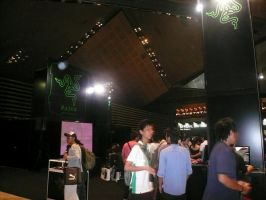 RAZOR GAMING BOOTH AT GCA 2007 by victortky