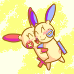 Plusle and Minun by Jewelcat