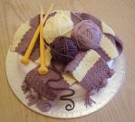 Knitted cake by KarenJerram