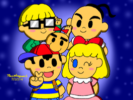 Earthbound Crew by MarioSimpson1