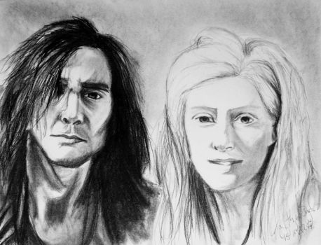 Adam and Eve by KaytlynES