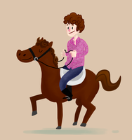 chris on a horse by dongpeiyen1000