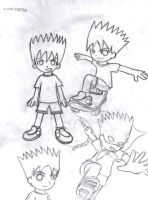 Bart sketches by ioxwol