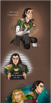Loki/Thor Sketches 2 ! by black-angel1992