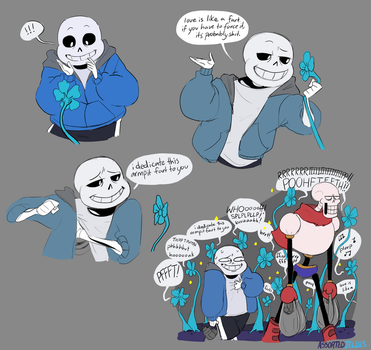 SANS! YOUR JOKES STINK! Nyehe Do you get it, Sans? by ASSORTEDJELLIES