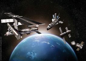 Space stations by dominiquefam