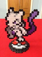 Pokemon: Mewtwo- Hama Design by Dogtorwho