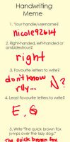 Handwriting Meme by nicole92614
