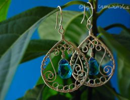 Blue zircon earrings by OlgaC