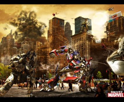 Transformers and Marvel's war by Wild-seven07