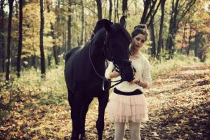 Girl with the horse by AnnaParcheniak