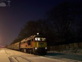 M62 311 with freight in night in Gyorszabadhegy by morpheus880223