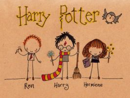 Harry Potter- BFFs by Pinkie-Perfect