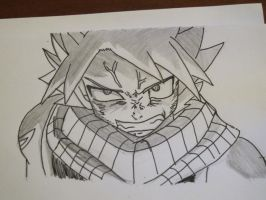 Natsu Dragneel Angry by PINB242