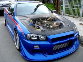 Skyline gtr engine by DIMITRIS