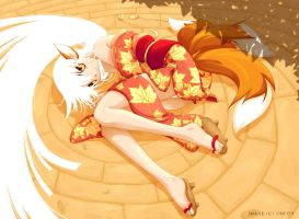 Kitsune Girl by zetallis
