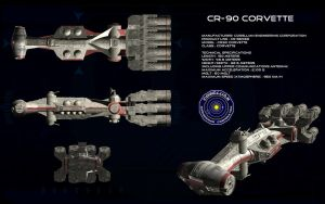 CR-90 Corellian Corvette ortho (2) by unusualsuspex