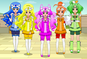Smile! Pretty Cure/Glitter Force, Ready for Action by GoldenEubank21