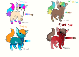 ADOPTABLES!! by Pittielover0122