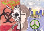 War Vs. Peace (Colored) by angelettediana11