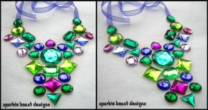 Blue-Purple and Green Necklace by Natalie526