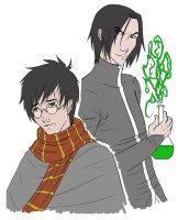 Snape and Harry by kitsuK8