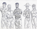 The Whateley Range Crew by JoeOutside
