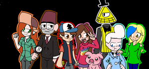 Gravity Falls Gang + Lyds. by Sonicgirlify