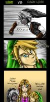 Link Vs. Dark Link by Saidorak