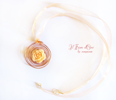 Kiss from a rose - necklace 2 by rosepeonie